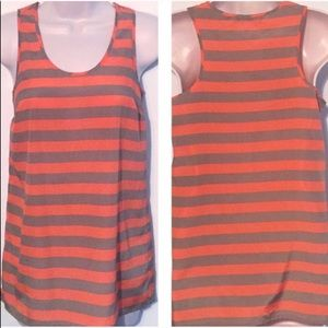 🔷BOGO🔷🆕 Outback Red striped flowy tank top xs